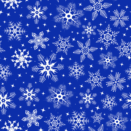 Background with snowflakes. Vector illustration Vector