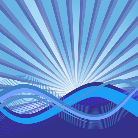 Abstract background with waves. Vector illustration Vector