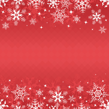 Red winter banner with snowflakes. Vector illustration Vector