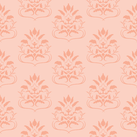 drapes: Pink seamless pattern. Vector illustration