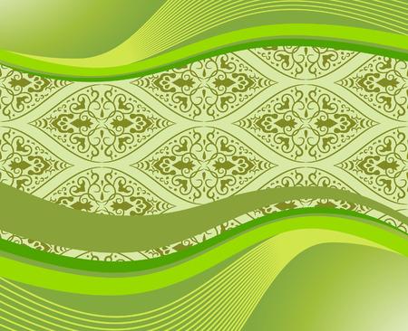 Elegant banner with pattern. Vector illustration Illustration