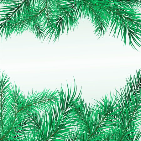 Framework from pine branches. Vector illustration Stock Vector - 3972187