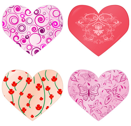 Collection of hearts. Vector illustration Stock Vector - 4012345