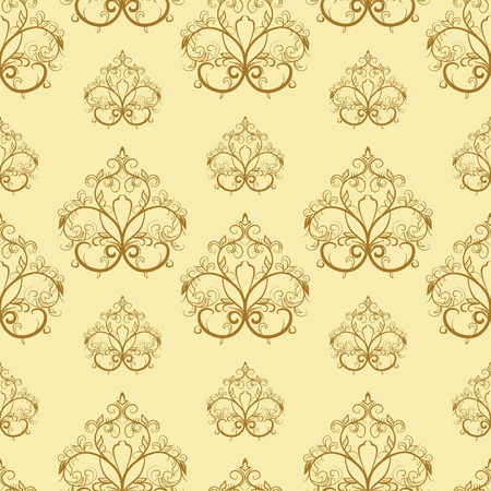 Brown seamless pattern. Vector illustration Illustration