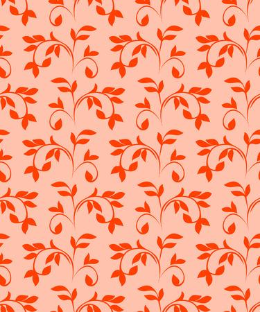 Red seamless pattern. Vector illustration Stock Vector - 4012340