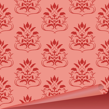 Sample of a fabric with drawing. Vector illustration Vector