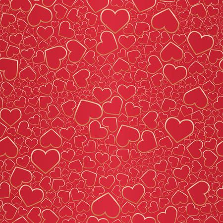 Valentine seamless background. Vector illustration Vector