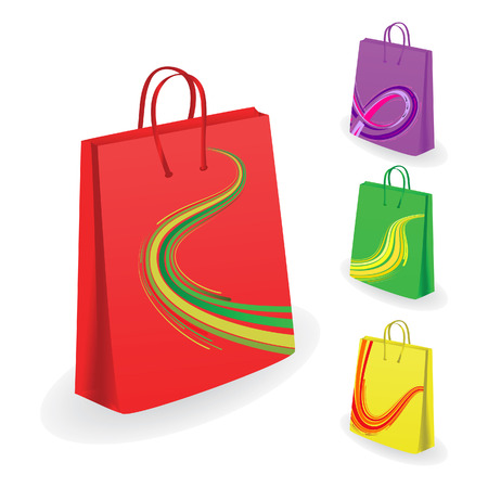 Collection of shopping bags. Vector illustration Vector