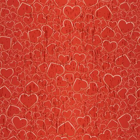 Valentine seamless gold background. Vector illustration Vector