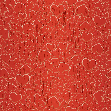 Valentine seamless gold background. Vector illustration Vector