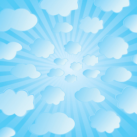 Seamless vector illustration of clouds Vector