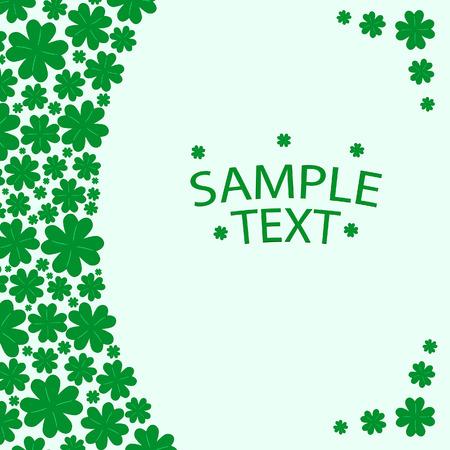 Patrick's green banner. Vector illustration Stock Vector - 4165717