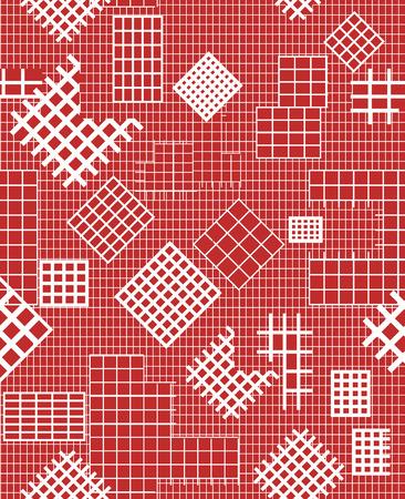 quadratic: Estructura de una secci�n. Ilustraci�n vectorial