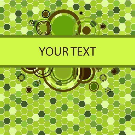 manic: Stylish green banner. Vector illustration