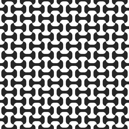 Black-and-white seamless pattern. Vector illustration Vector