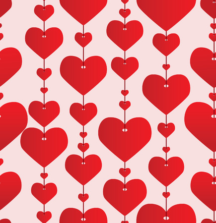 Valentine red background. Vector illustration Vector