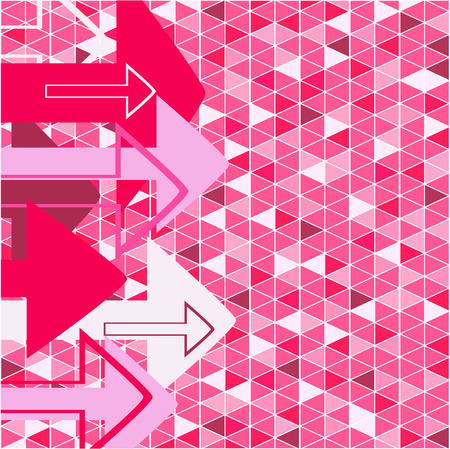 Pink arrow. Vector illustration Vector