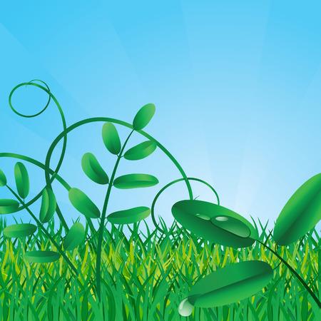 Ecological background. Vector illustration Stock Vector - 4327980
