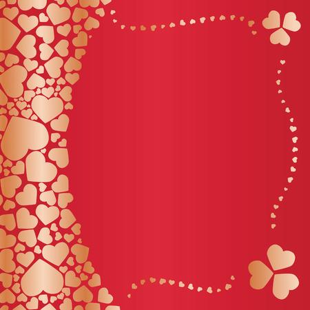 Valentines Invitation. Vector illustration Vector