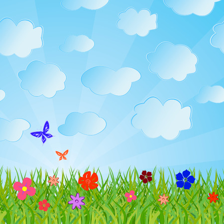 Ecological background. Vector illustration Stock Vector - 4369480