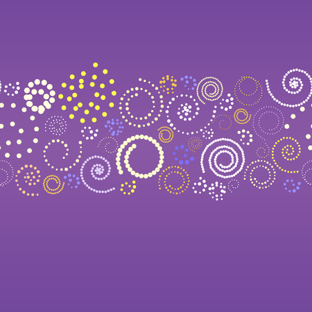 Abstract banner with spirals. Vector illustration Stock Vector - 4369478