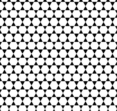 Black-and-white seamless pattern. Vector illustratio Vector