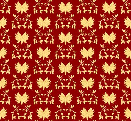 Gold seamless pattern. Vector illustration Illustration