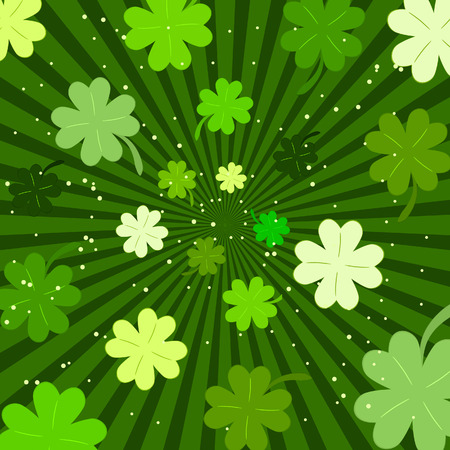 clover banners: Patrick's background. Vector illustration