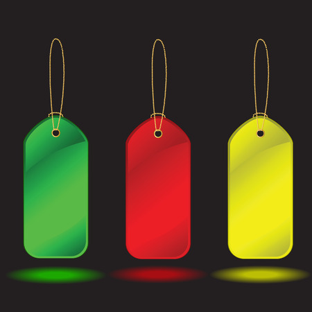 Collection of  labels over black background. Vector illustration Vector