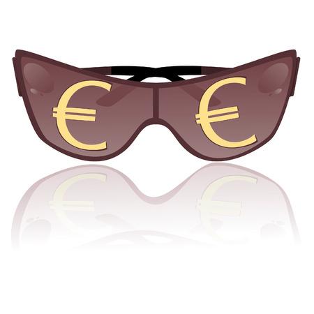 Solar glasses. Vector illustration Vector