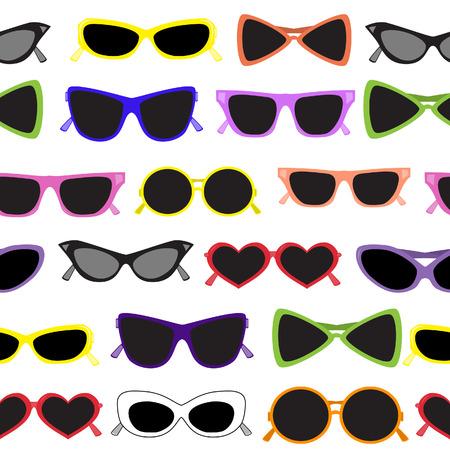 manic: Seamless solare occhiali. Vector illustration Vettoriali