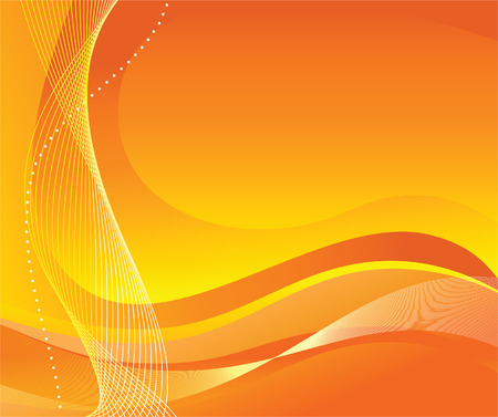 vector waves: Abstract orange background. Vector illustration Illustration