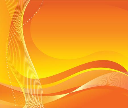 digital wave: Resumen fondo naranja. Vector illustration
