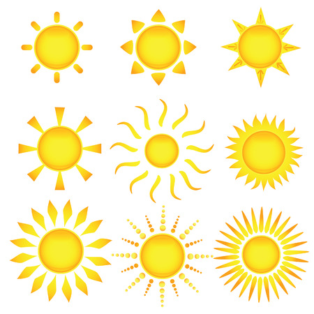 sun vector: Sun icons. Vector illustration