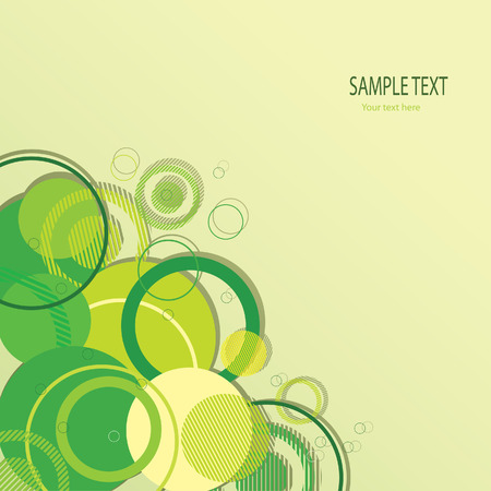 Stylish green banner. Vector illustration