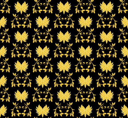 Gold seamless pattern. Vector illustration Vector