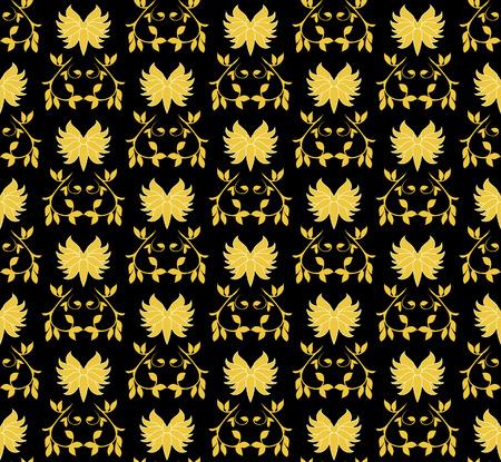 Gold seamless pattern. Vector illustration Vector