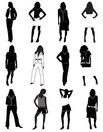 Fashion women. Vector illustration Vector