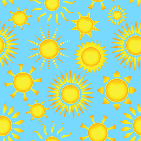 Seamless pattern with suns. Vector illustration    Vector