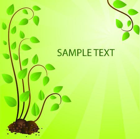 Ecological background. Vector illustration Stock Vector - 4899604