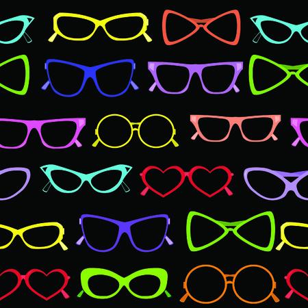 Seamless of solar glasses. Vector illustration