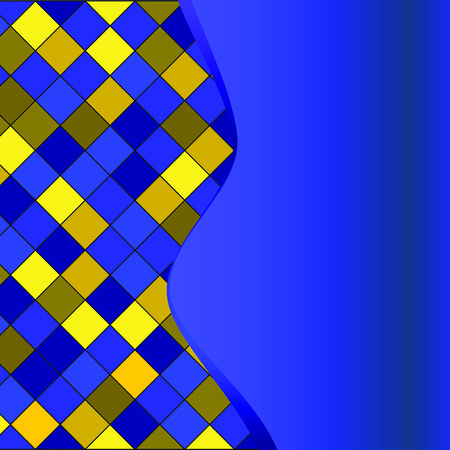 Blue geometrical pattern. Vector illustration Vector