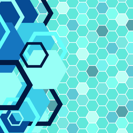 Stylish blue banner. Vector illustration Vector