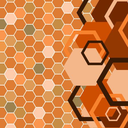 warm colors: Bandera naranja con estilo. Ilustraci�n vectorial