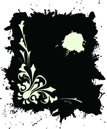 Grunge banner  in black colour Vector