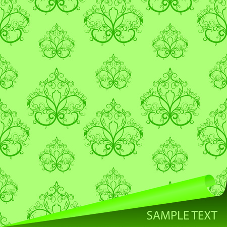 roll curtains: Sample of a fabric with drawing. Vector illustration