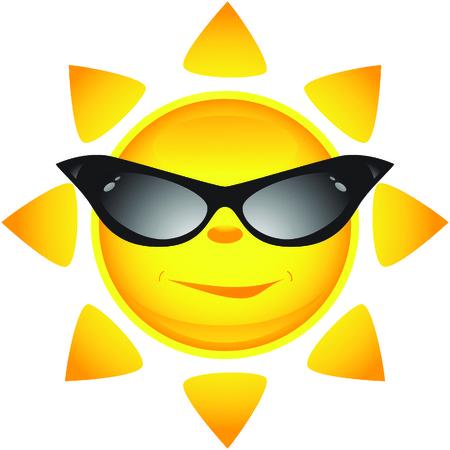 Sun icons. Vector illustration Stock Vector - 4984551
