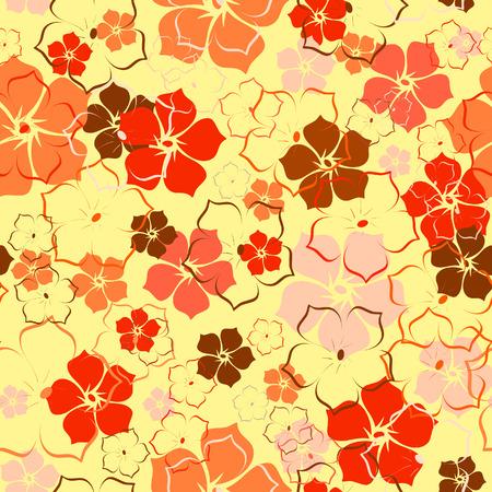The orange flower background. Vector illustration