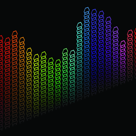 Abstract background with multicolored bent lines. Vector illustration Stock Vector - 5075153