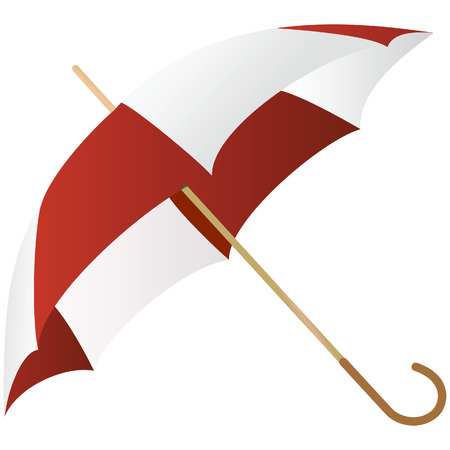 The green umbrella represented on a white background Stock Vector - 5075149